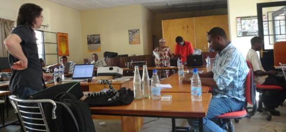 Journalistes en formation sur le multimédia avec Benoit Collienne