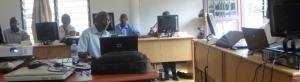 Les techniciens de la presse écrite au CFM/mars 2013.